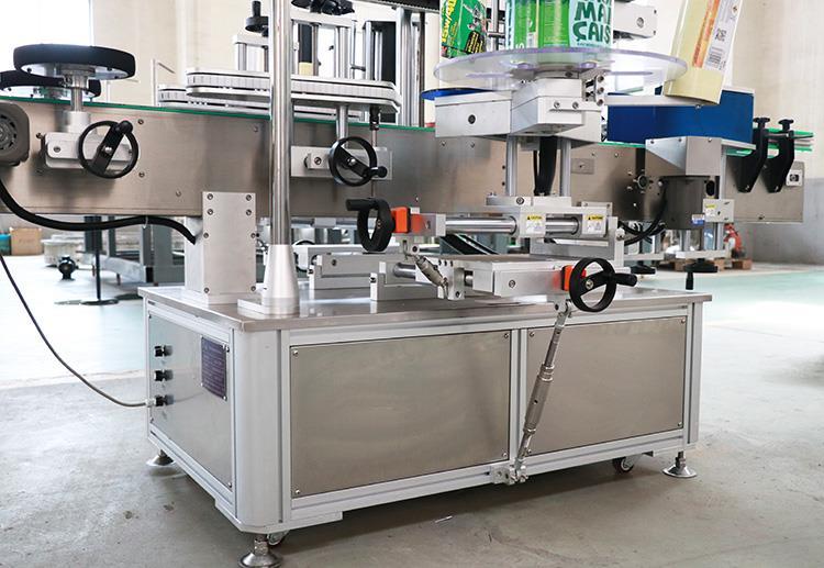 Automaitc selvklæbende to klistermærker flade runde flaskemærkningsmaskiner