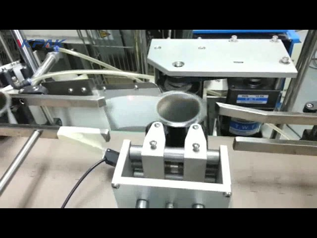 Automatisk keglebæger dobbelt to eller et klistermærke-applikator