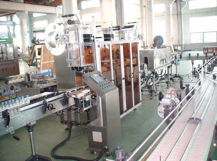 Automatisk dobbelthovedvarmepvc-etiket Krympemuffemærkningsmaskine