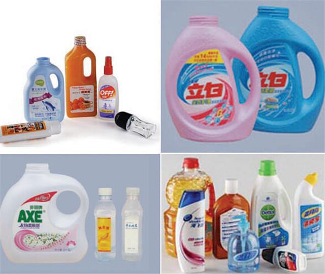 Automatisk dobbeltsidet mærkning maskine til anvendelse af shampoo lotionflasker