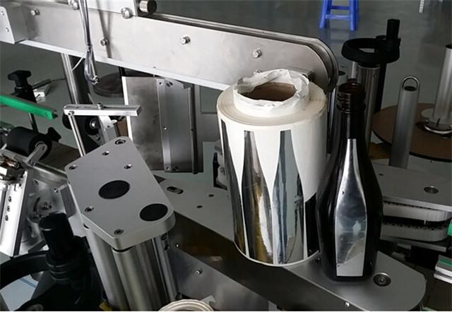 Automatisk dobbeltsidet mærkning maskine til shampoo lotion flasker detaljer