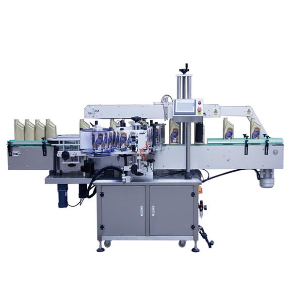 Automatisk dobbeltsidet mærkning maskine til shampoo lotion flasker