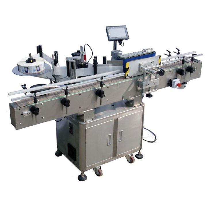 Automatisk rund flaske klæbemærkemærkning maskine