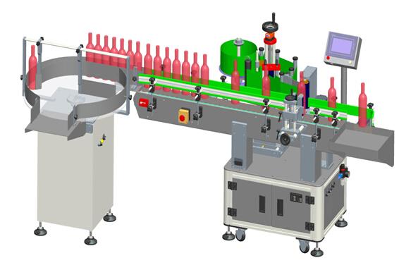 Automatiske lodrette rødvinsgennemsigtige etiketter Mærkning maskindetaljer