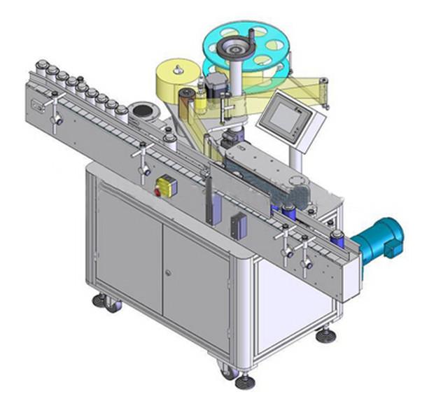 Automatisk lodret rund flaskemærkningsmaskine