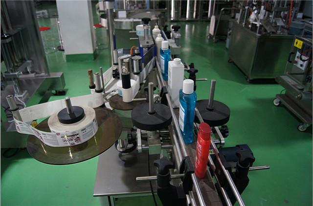 Konfiguration af lodrette runde flasker mærkning maskine automatisk