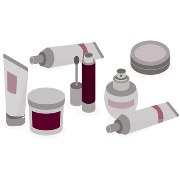 Udstyr til mærkning af kosmetik