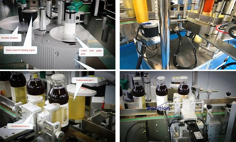 Fabrikspris Rund flaske Automatisk fast positionsmærkemaskine til salg