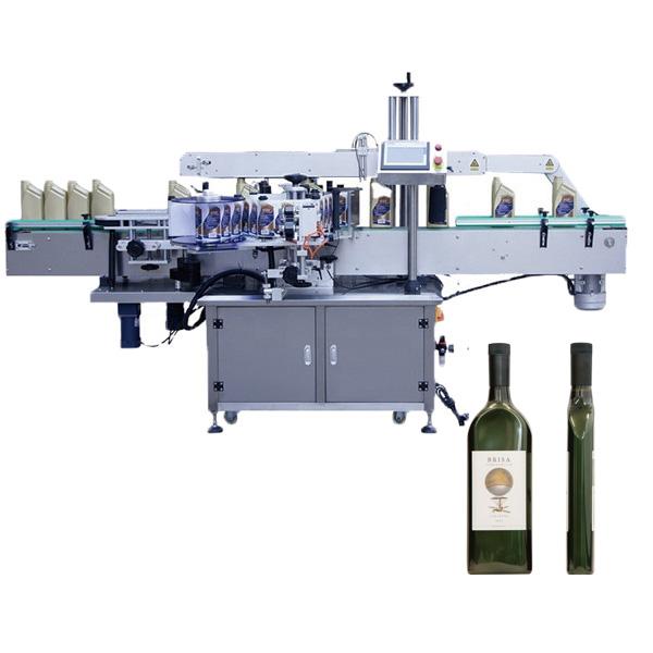 Flad flaskemærkningsmaskine