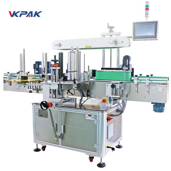 Forside og bagside og omvikling af mærkningsmaskine