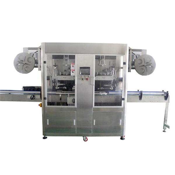 Fuldautomatisk flaskehals og krop med dobbelt hoveder ærme krympemærkningsmaskine