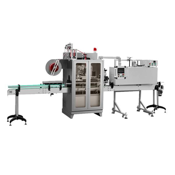 Fuldautomatiske krukker glasflasker ærme krympemærkningsmaskine