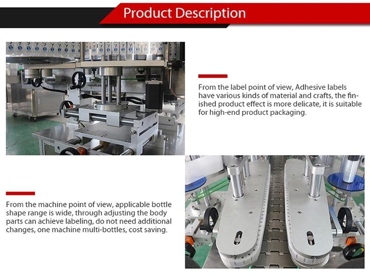 Fuldautomatisk mærkatmærkningsmaskine til selvklæbende glasflaske