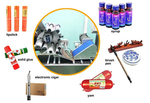 Højhastigheds vandret indpakning af runde flasker Hætteglas Sprøjter Mærkningsudstyr Detaljer