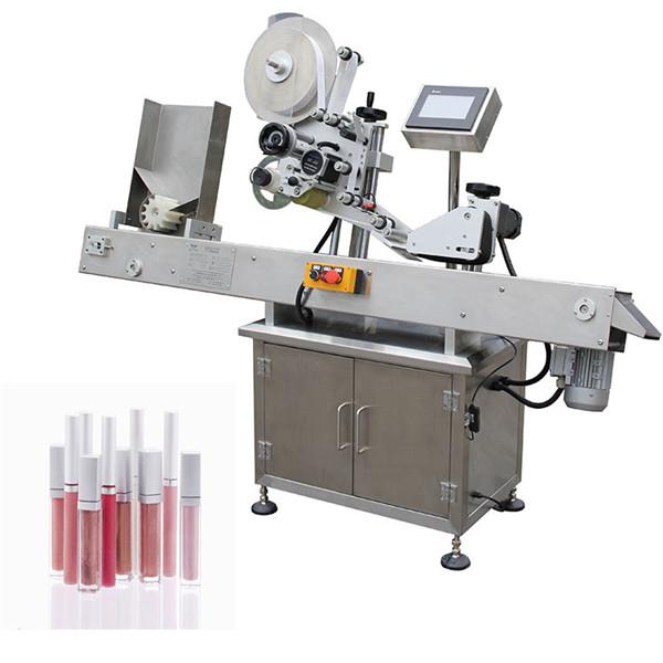 Horisontal automatisk farmaceutisk maskine til mærkning af små flasker