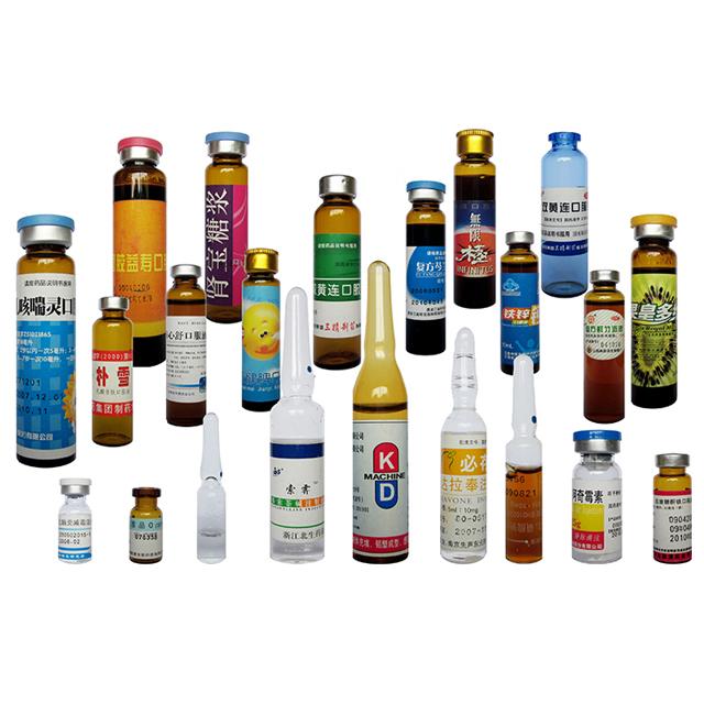 Lineær vandret servomotorampulflaske Hætteglas Mærkemaskine
