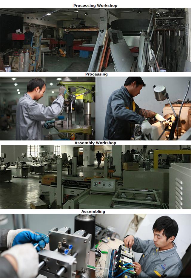 Behandling til fremstilling af etiketteringsmaskiner med flade flasker, kartoner, pjecer