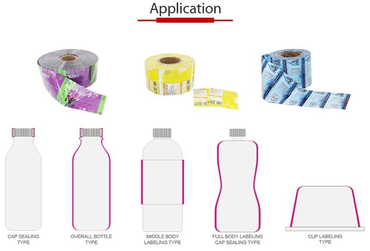 To-hoved automatisk plastglasflaske krympemærkningsmaskine